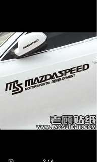 Mazdaspeed Stickers