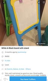 30% off listing -White board with stand