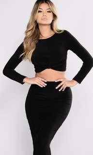Fashion Nova ✨ Skirt Set - Black