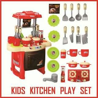 Kitchen Playset kids red and pink #letgo4raya