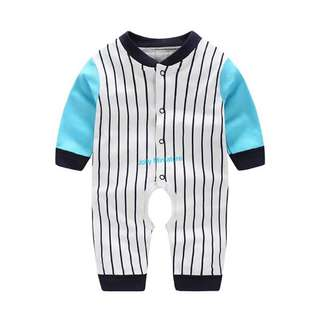 Baby Romper (Stripes 💙)