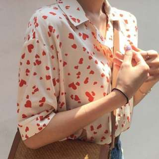 Loves Printed Short Sleeves Blouse