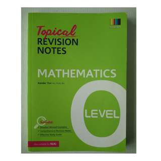 Topical Revision Notes - Mathematics 'O' Level