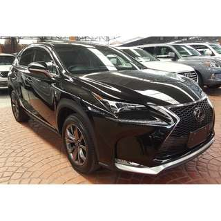 LEXUS NX200T 2.0 F-SPORT PANORAMIC ROOF SURROUND CAMERA FULL ELECTRONIC SEAT PRE-CRASH FULL LOADED (A) OFFER UNREG 2015