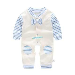 Baby Romper (Blue Stripes 💙)