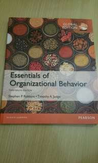 Essential of Organizational Behaviour Textbook