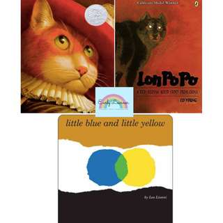 [SALE] Children books★Puss In Boots★Lon Po Po★Little Blue and Little Yellow[FREE DELIVERY]