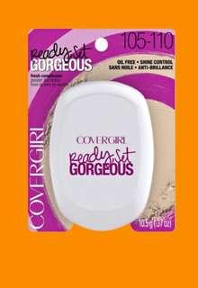 Authentic Covergirl 105/110 Fair Shade Ready, Set, Gorgeous powder foundation