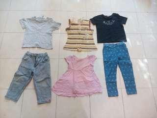 Jeans legging t shirt track dan gown budak