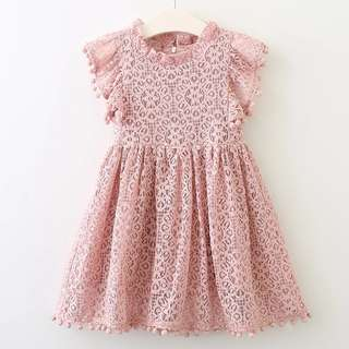 KIDS004|Lace Dress for Girls Aged 3-7 $29.90 (Pre-order)
