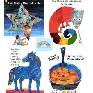 Eric Carle's Books★Draw Me a Star★Mixed Up Chameleon★Artist that Painted Blue Horse★Pancakes[FREE DELIVERY]