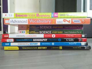 Rarely used Secondary 2 revision books