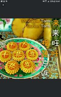 KUEH TARTS (PINEAPPLE / DURIAN TARTS) Each bottle at S20.  While stocks last!  Choose your top FOR YOUR TARTS!   X OR # OR $