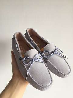 TOD'S light lilac/ baby blue loafers