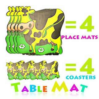 Placemat and Coaster Set - YELLOW COW
