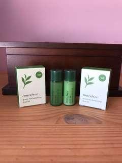 BN Innisfree green tea balancing duo 8ml + 8ml