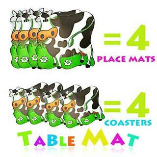 Placemat and Coaster Set - COW
