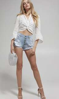 Bardot Bella trashed shorts - denim
