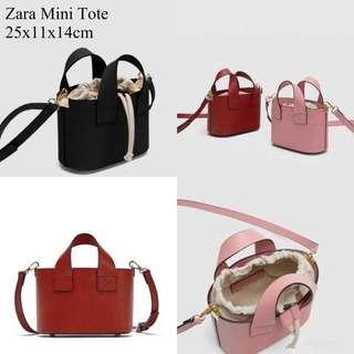 Zara Mini serut tote