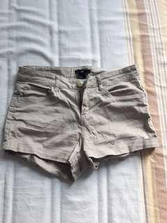 Tan shorts size 4