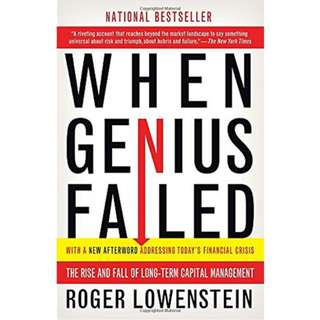 Ebook When Genius Failed: The Rise and Fall of Long-Term Capital Management by Roger Lowenstein