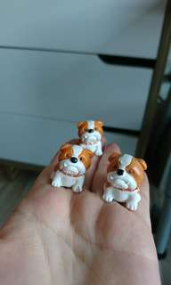 Bull dog figurines