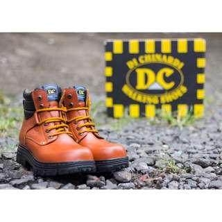 Sepatu Pria Boots Safety Kulit Dichinardi Steel Toe 6919