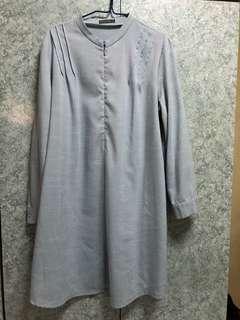 Poplook blouse/tunic powder blue