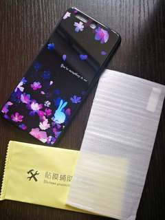 華為P10 全新 玻璃 矽膠邊 手機殼+ 鋼化 膜