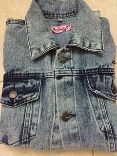 Jaket jeans Oversize spot white