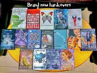 Brand new YA hardcovers
