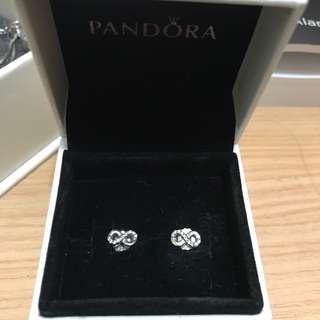 Pandora earrings (infinity sign)