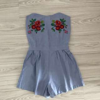 Embroidery Tube Romper