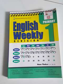 P1 English Weekly assessment book