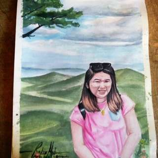 Customised Watercolor painting