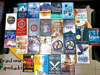 Brand new YA paperbacks