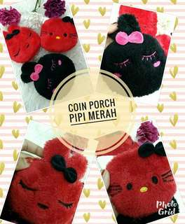 Coin Pouch Comel Pipi Merah