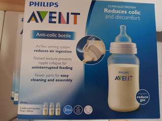 Avent classic 330ml x 3 bottles