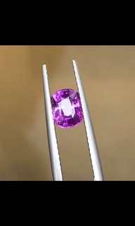 天然有燒紫色藍寶石