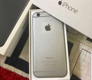 Iphone 6 64GB Space Grey (wrap leather red)