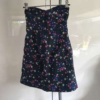 Abercrombie and Fitch Strapless Floral Dress