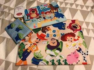迪士尼樂園 玩具總動員 萬用袋 一次三個