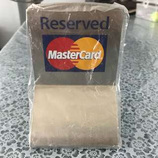 MasterCard Metal 'Reserved' Sign