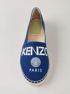 """KENZO """"Kenzo Paris"""" LOGO Espadrilles - Size 35"""