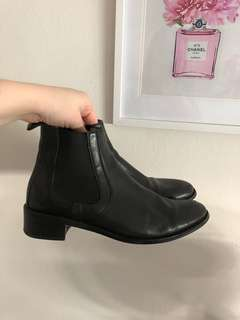 Jo Mercer black leather ankle boots