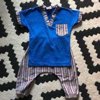 Baby baju melayu 6-9mo