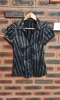 Portmans Stripe Business Shirt Size 8