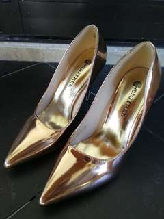 Gold shine High Heels