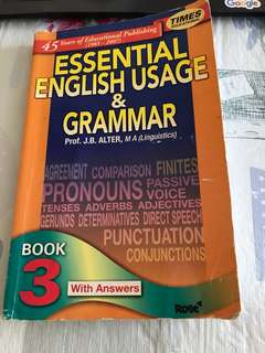 Times Educational Essential English Usage & Grammer Book 3 with Answers by Professor J.B. Alter