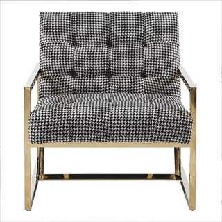 Avery Checkered Armchair - in stock